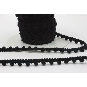 Fita pompons pequenos ref.24048/Madronho cor 101 preto