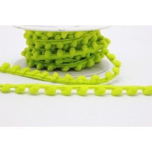 Fita pompons pequenos ref.24048/Madronho cor 1202 verde