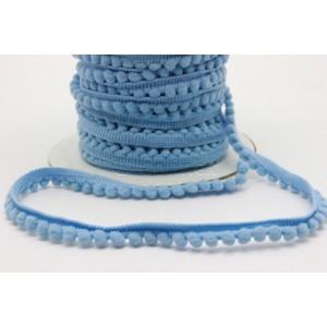 Fita pompons pequenos ref.24048/Madronho cor 1282 azul claro