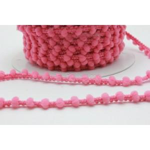 Fita pompons pequenos ref.24048/Madronho cor 176 rosa