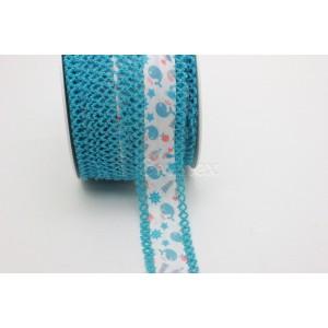 Entremeio vies c/ponta crochet picot 20mm cor 002 azul bebe