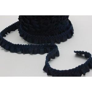 Fita gorgurao plisada 20mm azul marinho ref.073714