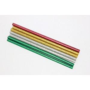Cola termofusivel glitter blt.7 tubos finos