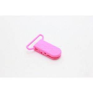 Mola suspensorio/chupetas 25mm plasticas retangulares rosa forte
