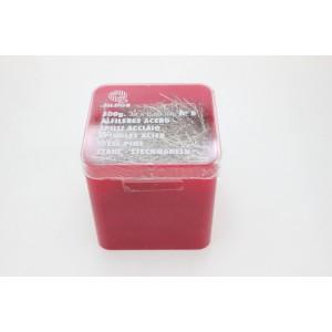 Alfinetes aço inox Nº8 tam.34 (cx.500gr.) 3500