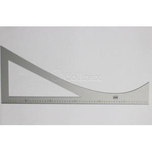Esquadro angulo de lapela metal 60X25cm