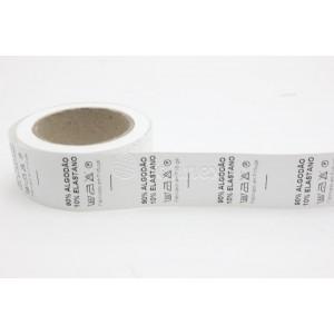 Etiquetas 90% Algodao 10% Elastano - rolo 500