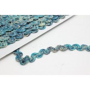 Espiguilha cores 10mm elastica cor 3 azul